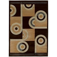 Westfield Home Sculptures Ira Chocolate Hand Carved Runner Rug - 2'7 x 7'3