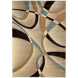 Westfield Home Sculptures Indira Beige Hand-carved Runner Rug (2'7 x 7'3)