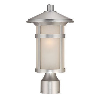 Acclaim Lighting Phoenix Collection Post Lantern 1-Light Outdoor Brushed Silver Light Fixture