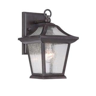 Acclaim Lighting Aiken Collection Wall-Mount 1-Light Outdoor Black Coral Light Fixture