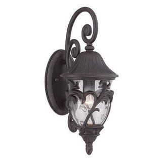Acclaim Lighting Capri Collection Wall Lantern 1-Light Outdoor Black Coral Light Fixture