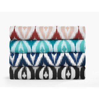 Chic Home Jamie Two-Toned Ikat Diamond Print 6-Piece Sheet Set