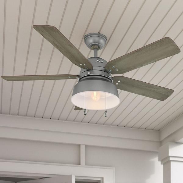 Hunter Fan Mill Valley Silver Metal 4-blade 52-inch Ceiling Fan