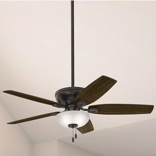 """Hunter Fan 52"""" Kenbridge Noble Bronze w / 5 Barnwd / Drk Walnut Rev Blds"""