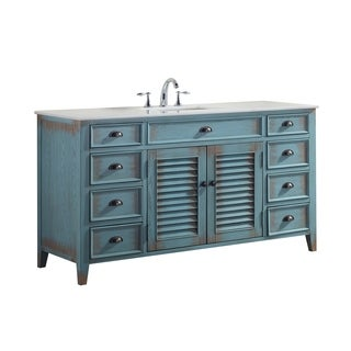 Modetti Palm Beach 60-inch Single Sink Bathroom Vanity with Marble Top