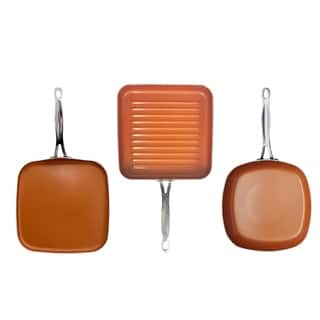 Gotham Steel 3 Piece Set - Grill, Griddle and Square Shallow Fry Pan|https://ak1.ostkcdn.com/images/products/17965015/P24141249.jpg?impolicy=medium