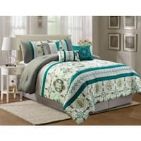 Florence embroidery 7 piece comforter set