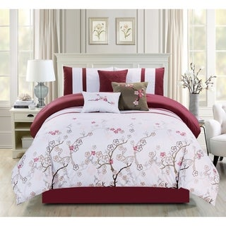 Justin embroidery 7 piece comforter set