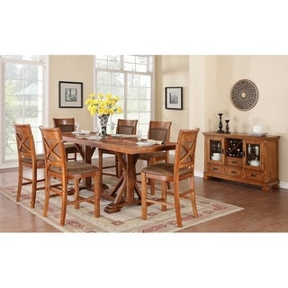 Wanderloot Brookside Contemporary Dining Table, Brown