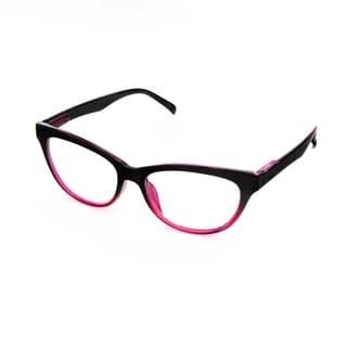 Hot Optix Ladies Two-Toned Cateye Reading Glasses (Option: Pink)