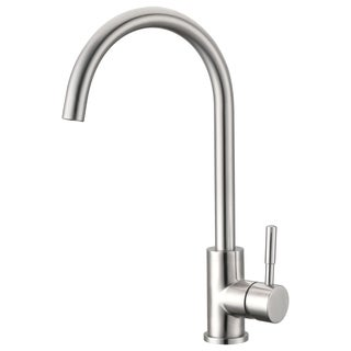 Single Handle Kitchen Faucet in Brushed Nickel Finish