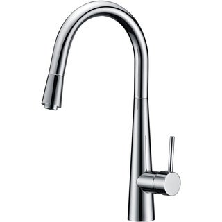 Single Handle Pull-out Kitchen Faucet in Brushed Nickel Finish