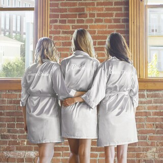 Team Bride Silver Satin Robe (2 options available)