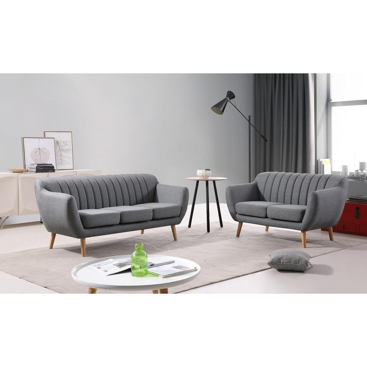 Carson Carrington Daloya Modern Sofa and Loveseat Set
