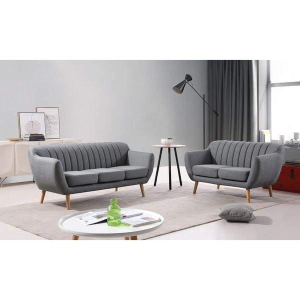 Palm Canyon Verona Modern Sofa and Loveseat Set - Free ...