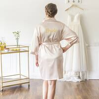 Bride Blush Satin Robe