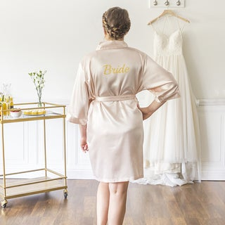 Bride Blush Satin Robe