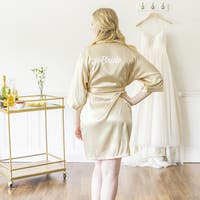 Bride Gold Satin Robes