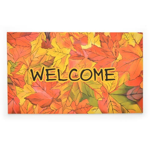 Stephan Roberts Welcome to Fall Rubber Welcome Doormat, 18''x30''