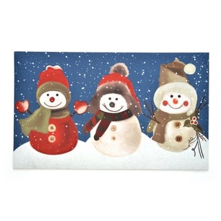 Stephan Roberts Snow Buddies Rubber Doormat, 18''x30''