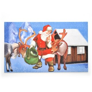 Stephan Roberts Secret Santa Rubber Doormat, 18''x30''