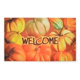 Stephan Roberts Bountiful Harvest Rubber Welcome Doormat, 18''x30''