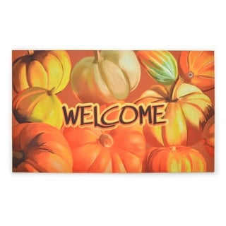 Stephan Roberts Bountiful Harvest Rubber Welcome Doormat, 18''x30''