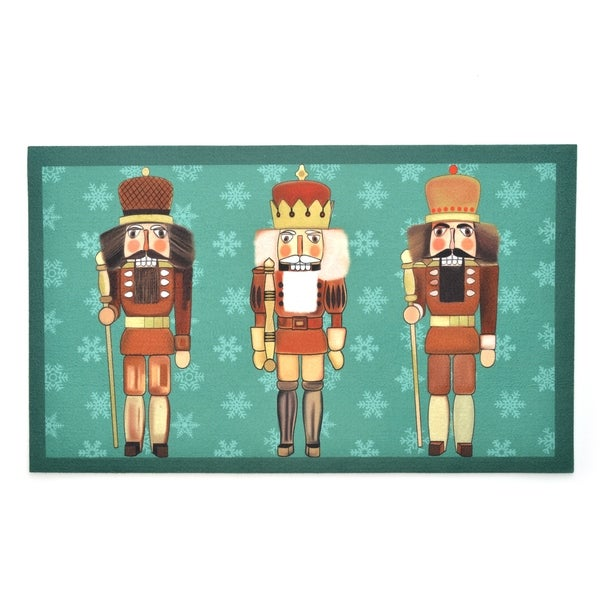 Stephan Roberts Nutcrackers Rubber Doormat, 18''x30''