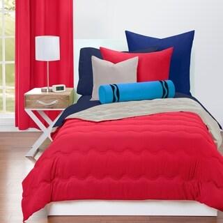 Crayola Scarlet and Timberwolf Reversible 3-piece Comforter Set