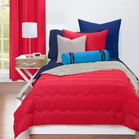 Crayola Scarlet and Timberwolf Reversible Comforter