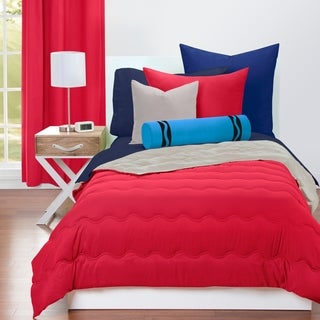 Crayola Scarlet and Timberwolf Reversible 3-piece Comforter Set
