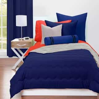Crayola Navy Blue And Timberwolf Reversible 3 Piece Comforter Set