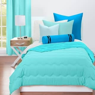 Crayola Robins Egg Blue And Turquoise Reversible 3 Piece Comforter Set