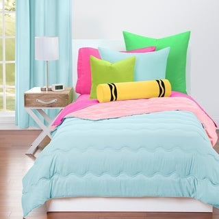 Link to Crayola Sky Blue and Tickle Me Pink Reversible 3-piece Comforter Set Similar Items in Bed Sheets & Pillowcases
