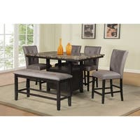 Best Quality Furniture Counter Height Faux Marble Table Top Dining Set with Storage Compartment