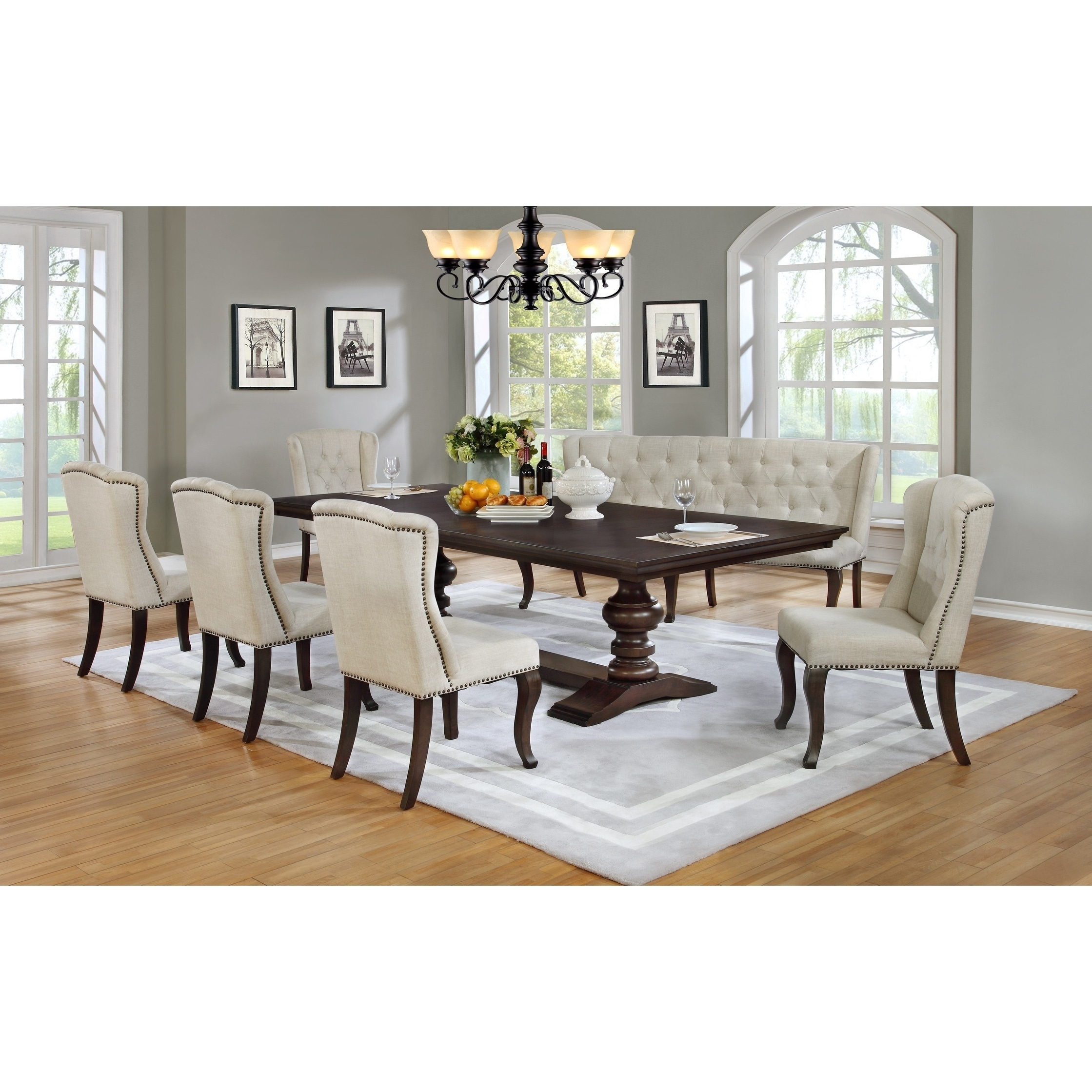 Shop Best Quality Furniture Cappuccino Dining Set On Sale Overstock 17965206