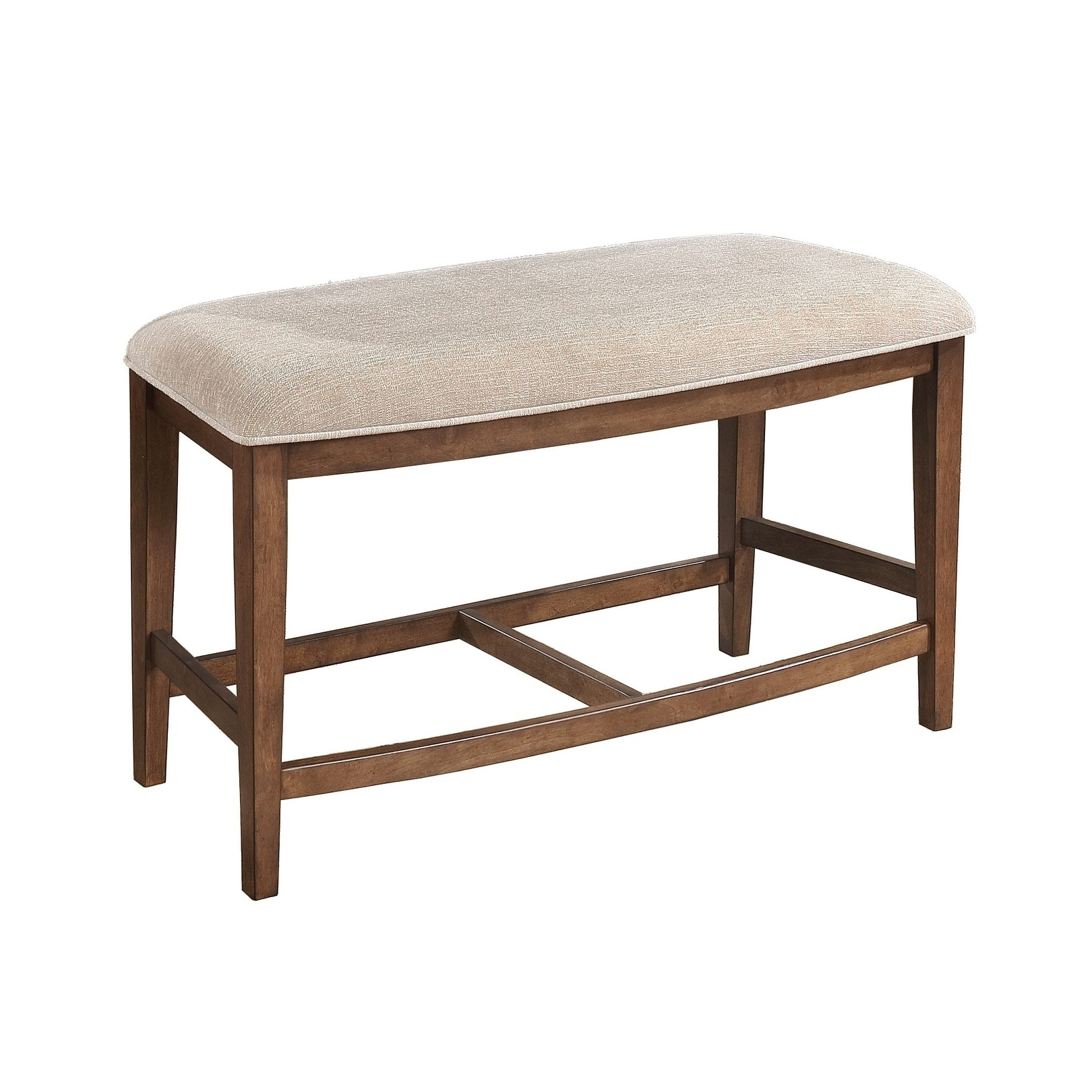Highest Quality Furniture: Best Quality Furniture Pecan Curved Counter Height Bench