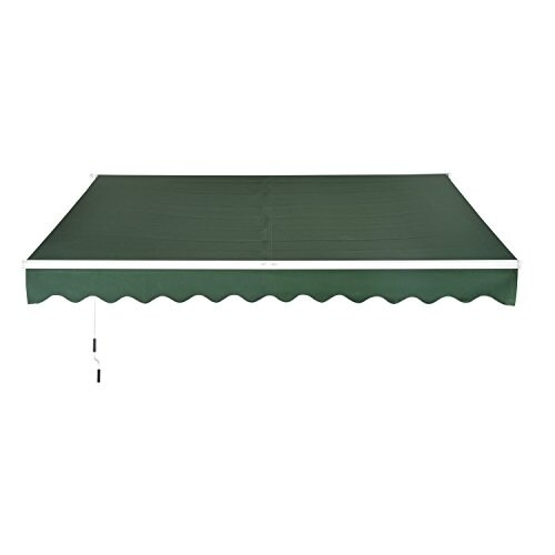 "Aosom Outsunny 116"" Manual Retractable Patio Sun Shade Aw..."