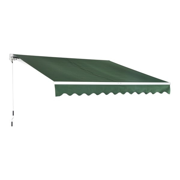"Outsunny 152"" Manual Retractable Patio Sun Shade Awning"
