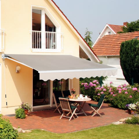 Manual Retractable Patio Sun Shade Awning