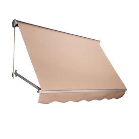 Outsunny 4' Drop Arm Manual Retractable Window Awning