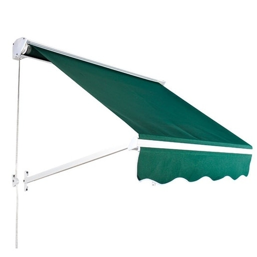 finest selection 4c0bd 4bdeb Outsunny 4' Drop Arm Manual Retractable Window Awning