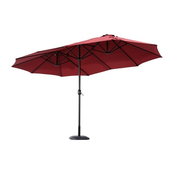 Outsunny 15u0026#x27; Outdoor Patio Market Double Sided Umbrella