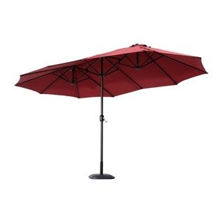 Outsunny 15' Outdoor Patio Market Double-Sided Umbrella