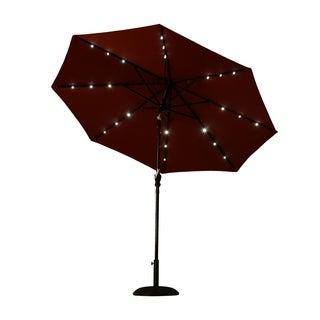 Outsunny 8.5' Solar LED Market Patio Umbrella