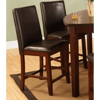 Best Quality Furniture Dark Cherry Counter Height Chairs (Set of 2)