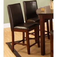 Best Quality Furniture Dark Cherry Dining Side Chairs (Set of 2)