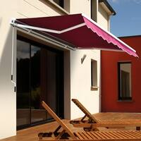 Outsunny 8' x 7' Manual Retractable Sun Shade Patio Awning