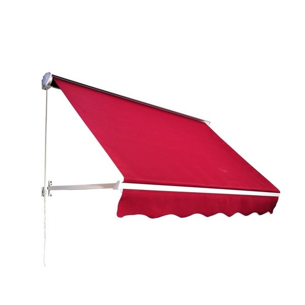 """Outsunny 71"""" Drop Arm Manual Retractable Window Awning"""