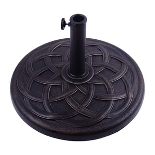 Outsunny 21.5 in. Round Decorative Cast Stone Umbrella Base
